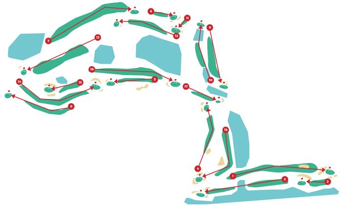 plan parcours golf les ormes